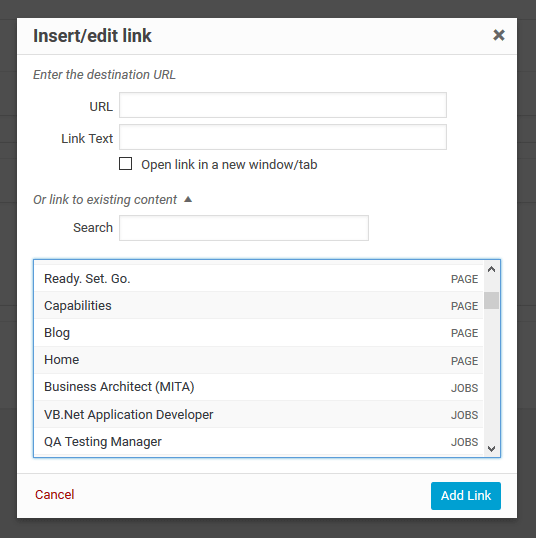 link-selector-for-advanced-custom-fields screenshot 2