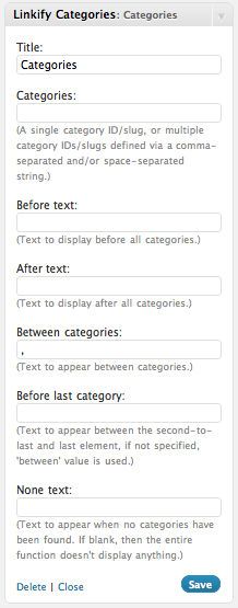 linkify-categories screenshot 1