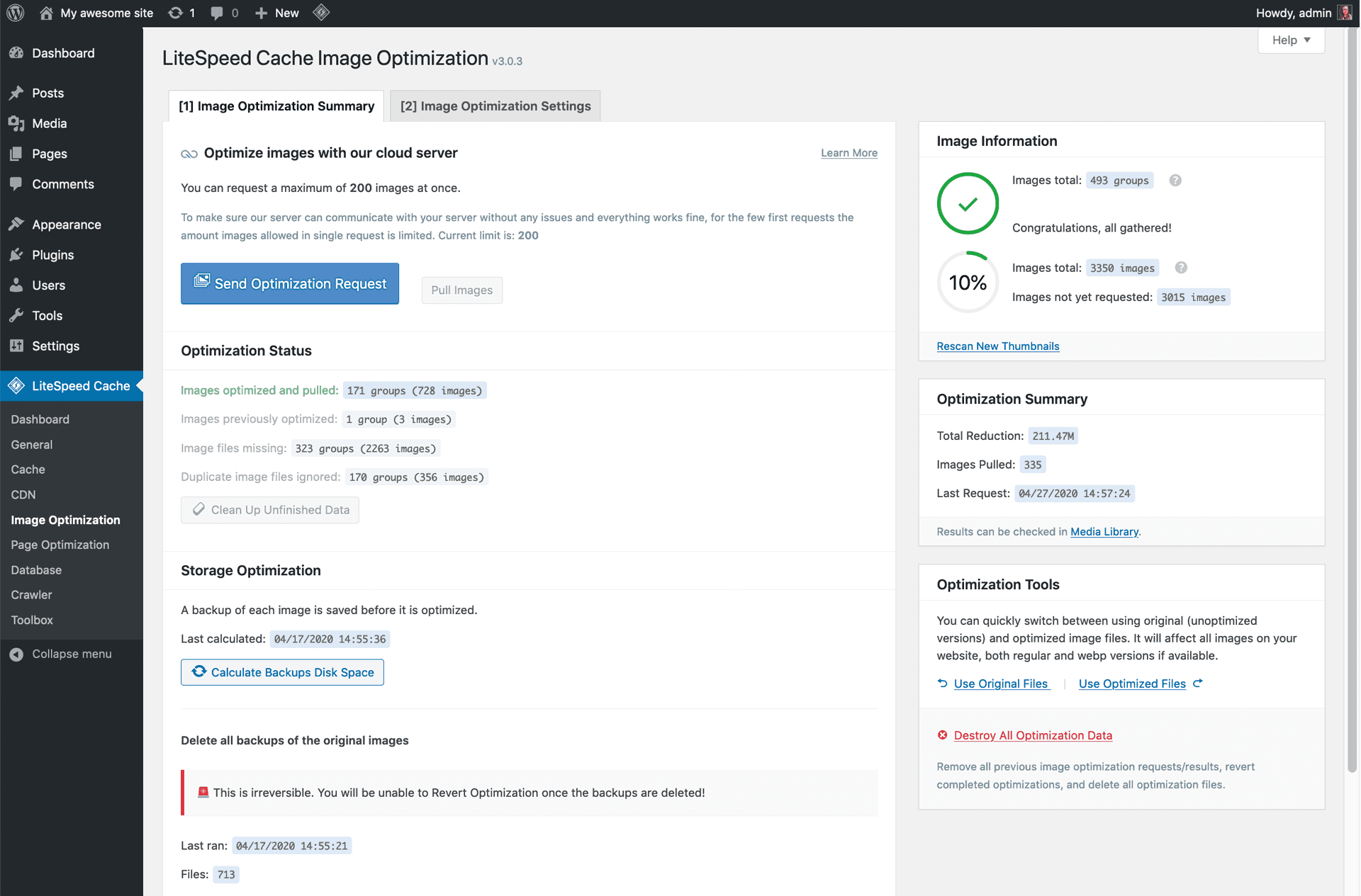 litespeed-cache screenshot 3