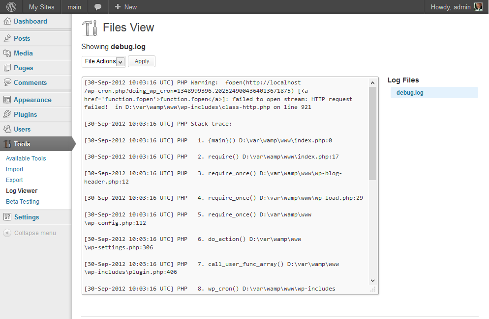 log-viewer screenshot 2