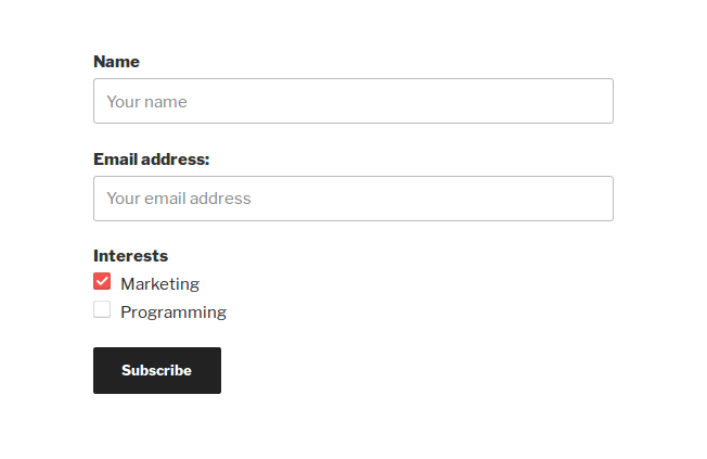 mailchimp-for-wp screenshot 1
