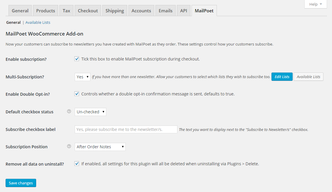 mailpoet-woocommerce-add-on screenshot 3
