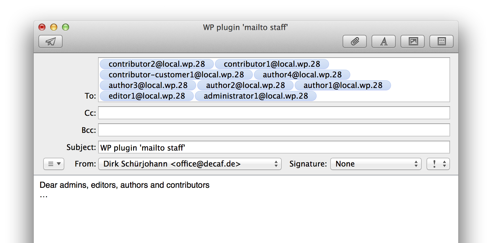 mailtostaff screenshot 3