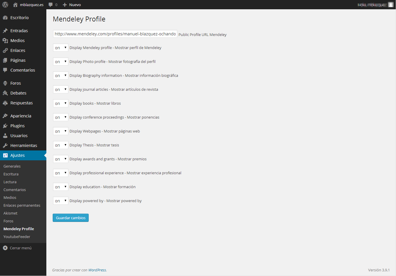 mendeley-profile screenshot 1