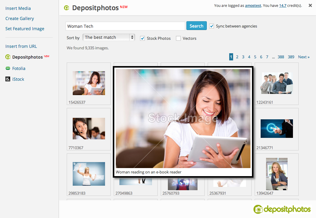 microstock-photo-plugin screenshot 1