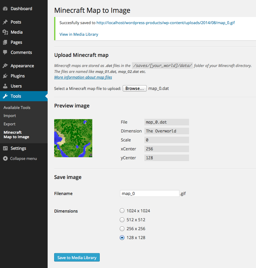 minecraft-map-to-image screenshot 1