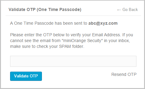 miniorange-otp-verification screenshot 2