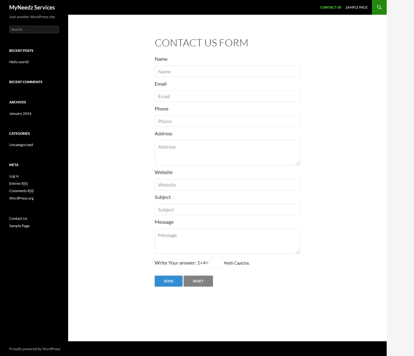 mn-contact-form screenshot 1