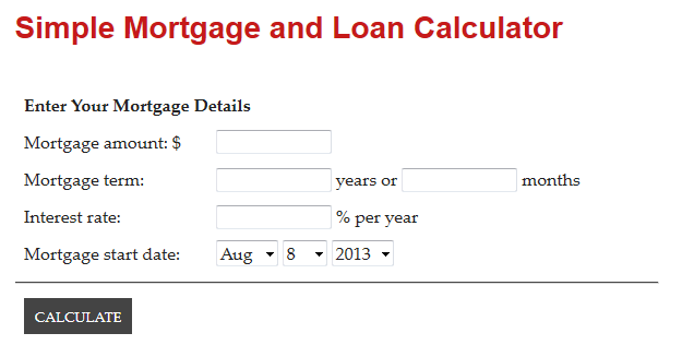 mortgage-and-loan-calculator screenshot 1