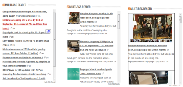 multi-rss-reader-widet screenshot 1