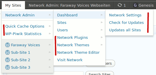 multisite-toolbar-additions screenshot 1