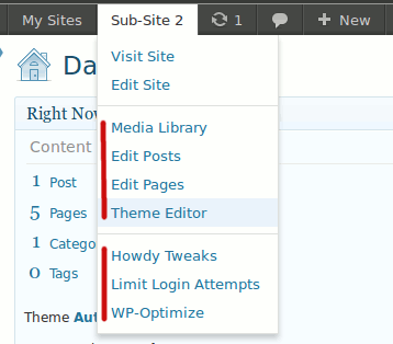 multisite-toolbar-additions screenshot 4