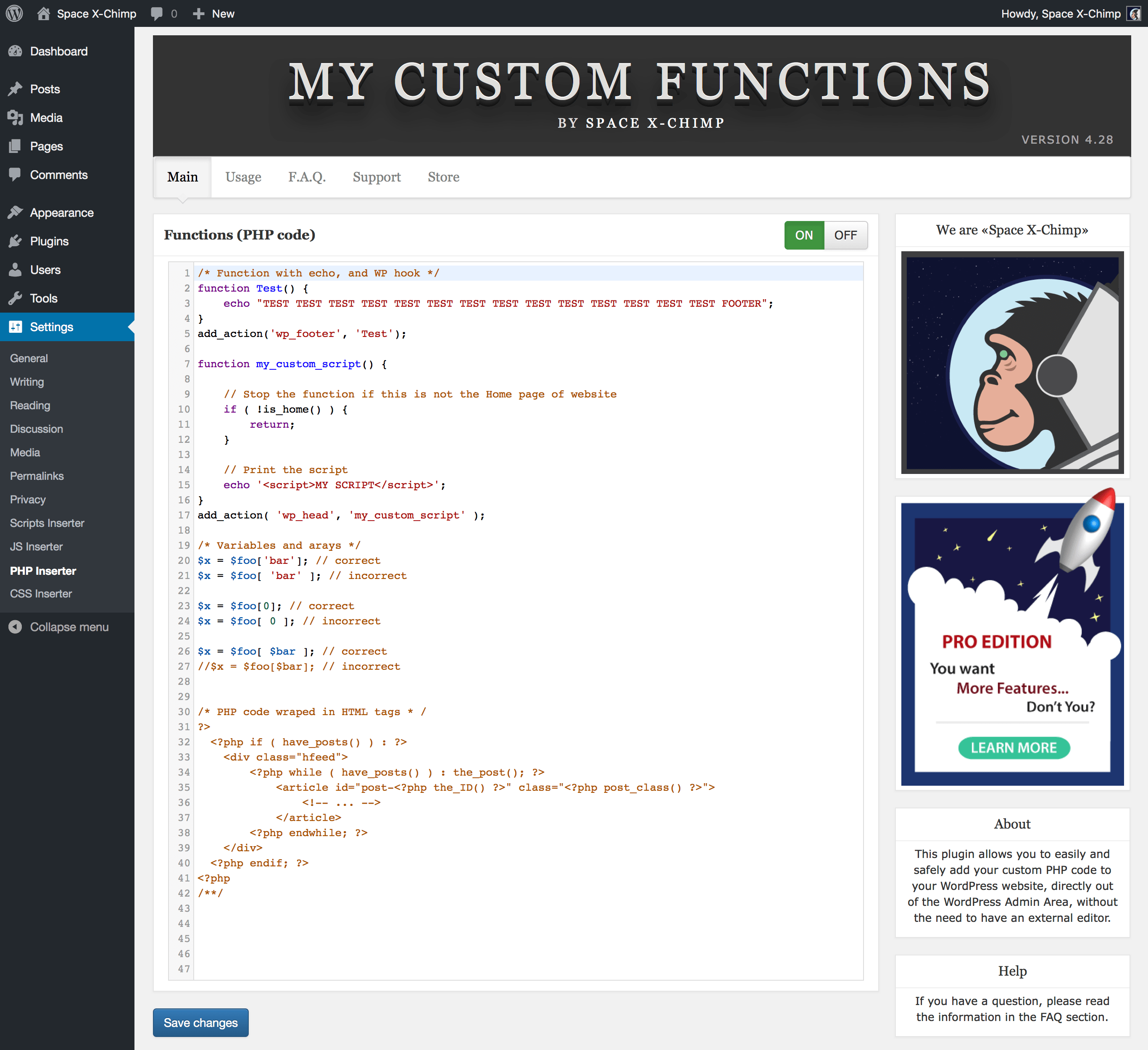 my-custom-functions screenshot 2