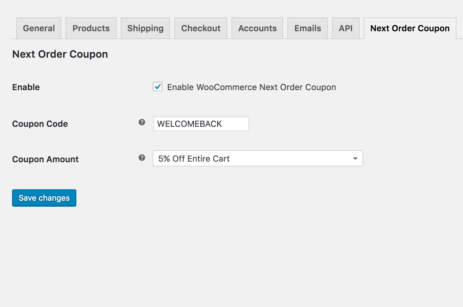 next-order-coupon-woocommerce screenshot 1