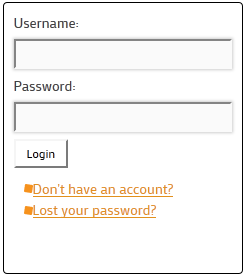 nice-login-register-widget screenshot 2