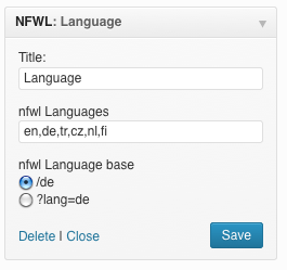 no-function-language-widget screenshot 1