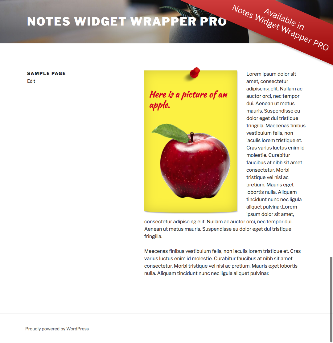 notes-widget-wrapper screenshot 1