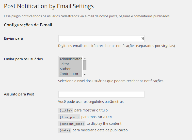 notify-users-e-mail screenshot 1