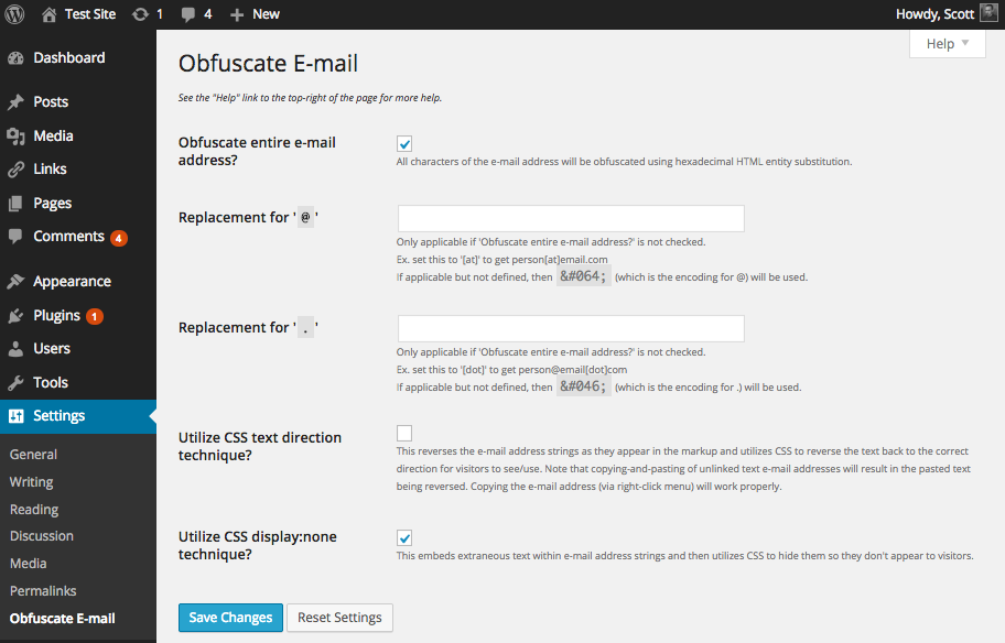 obfuscate-email screenshot 1