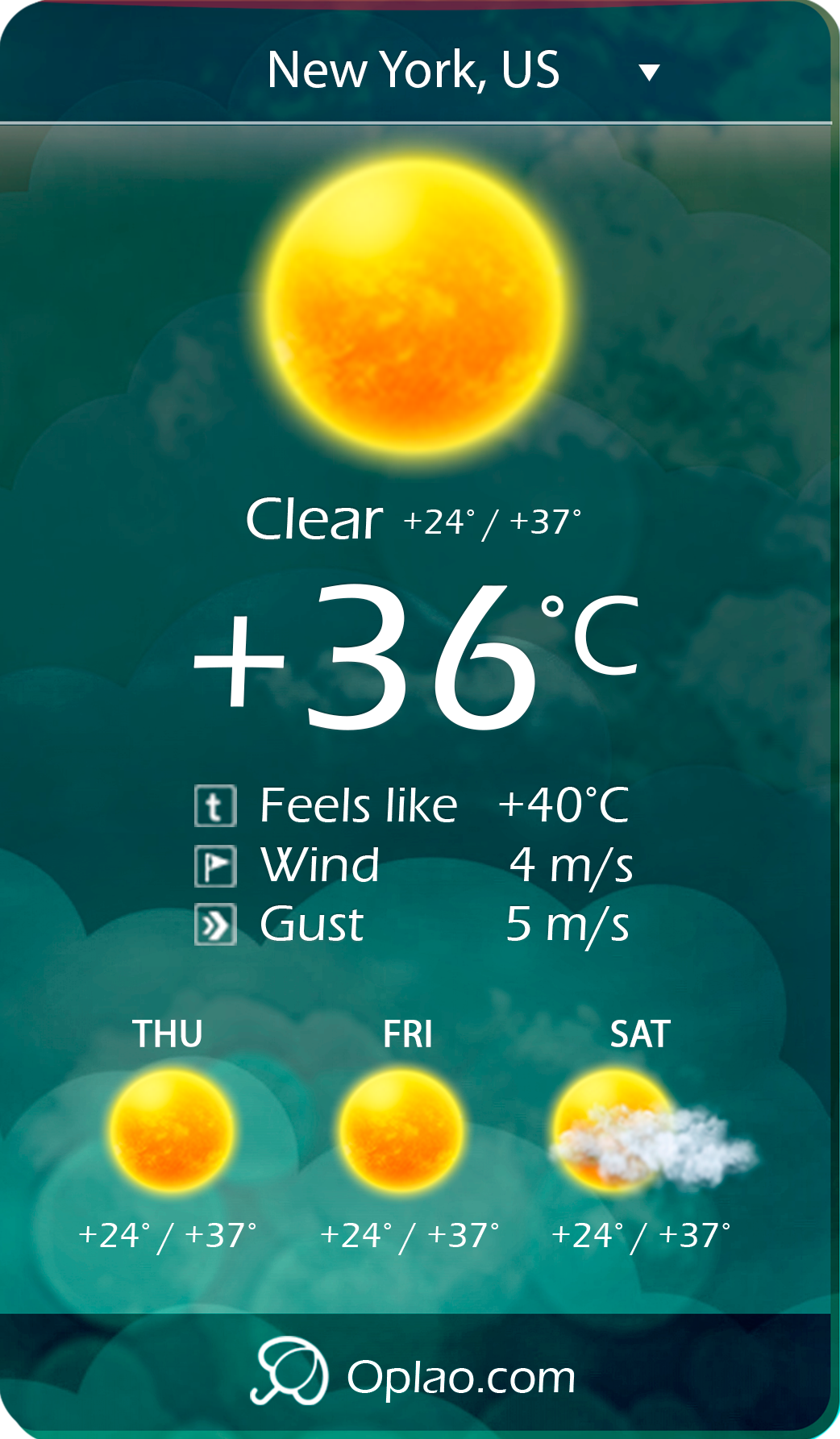 oplao-weather-professional-weather-widget screenshot 3