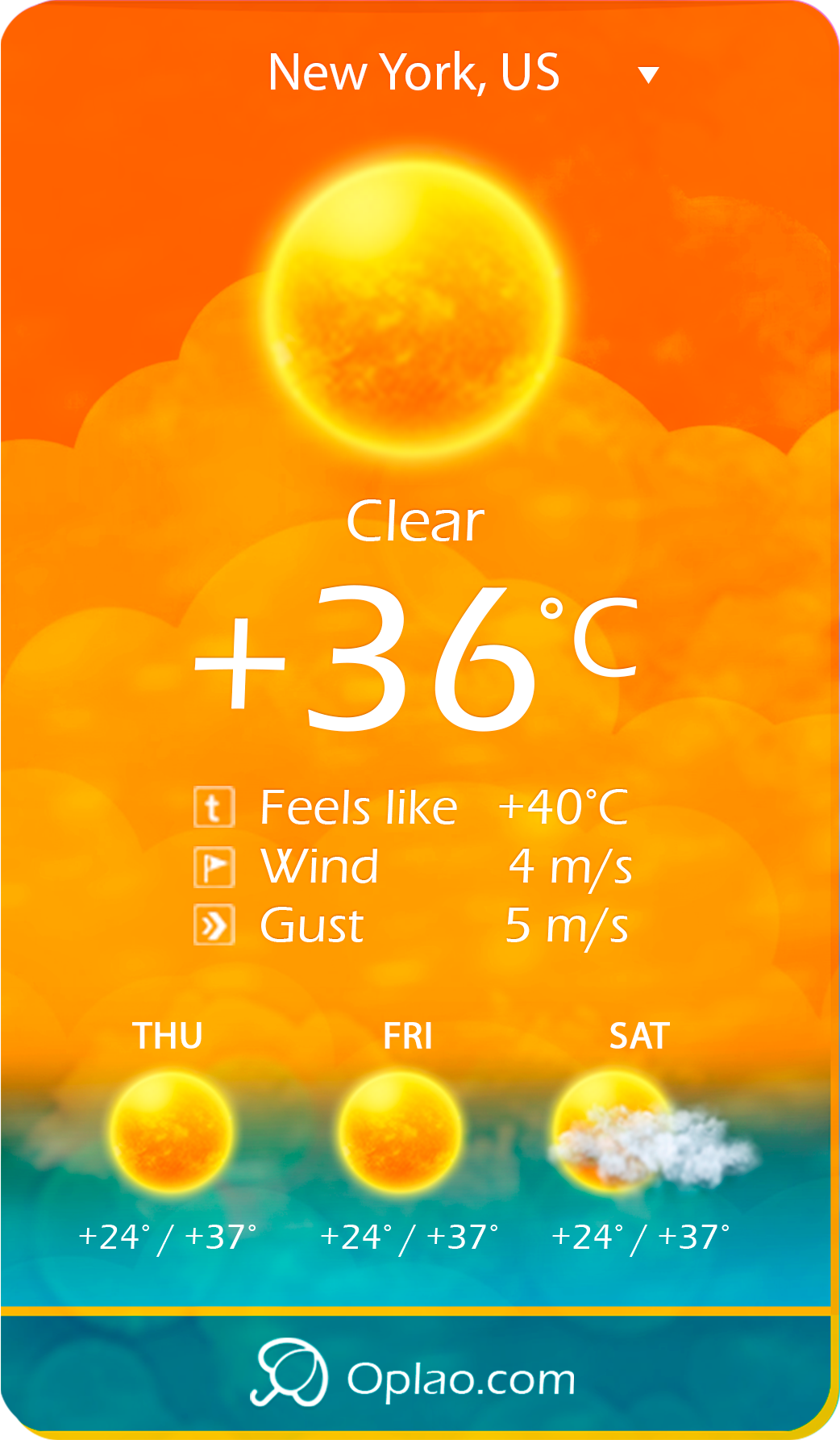 oplao-weather-professional-weather-widget screenshot 4