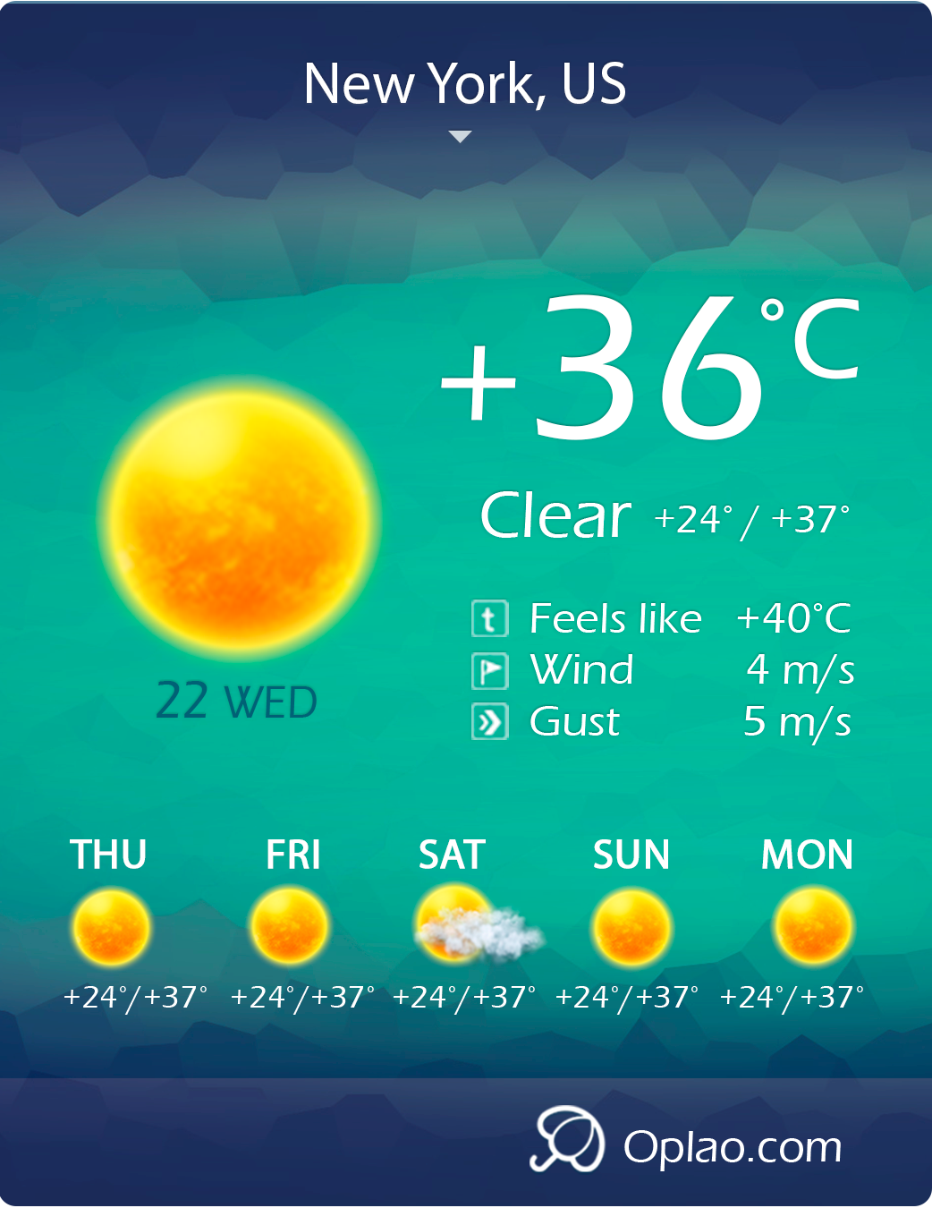 oplao-weather-professional-weather-widget screenshot 5