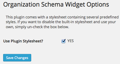 organization-schema-widget screenshot 2