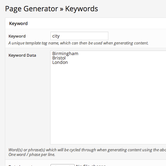 page-generator screenshot 2