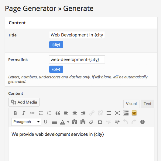 page-generator screenshot 3