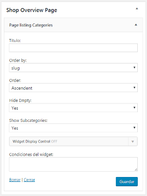page-listing-categories screenshot 3