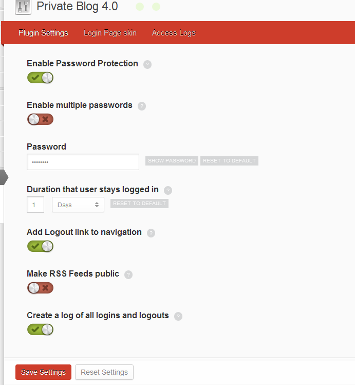 password-protect-wordpress screenshot 2
