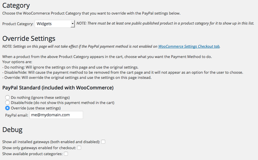 pay-payment-pal-multiple-emails-for-woocommerce screenshot 1