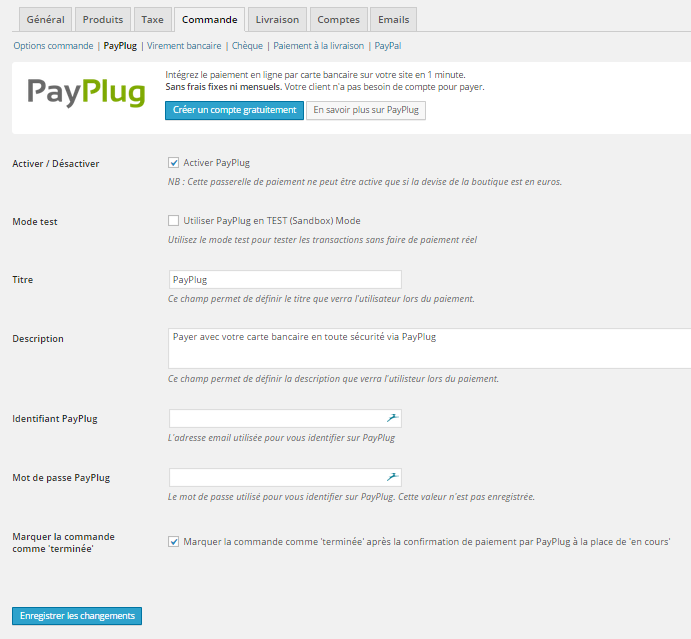 payplug-for-woocommerce screenshot 1
