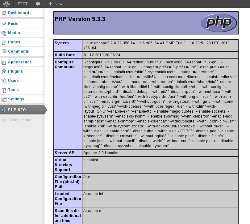 phpinfo-print screenshot 1