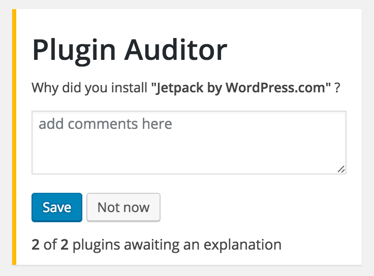 plugin-auditor screenshot 1
