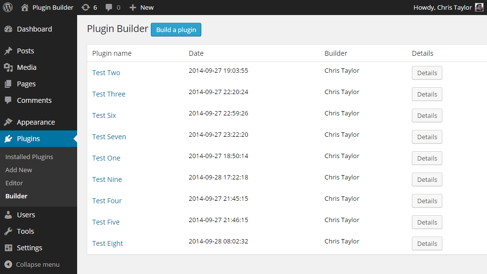 plugin-builder screenshot 1