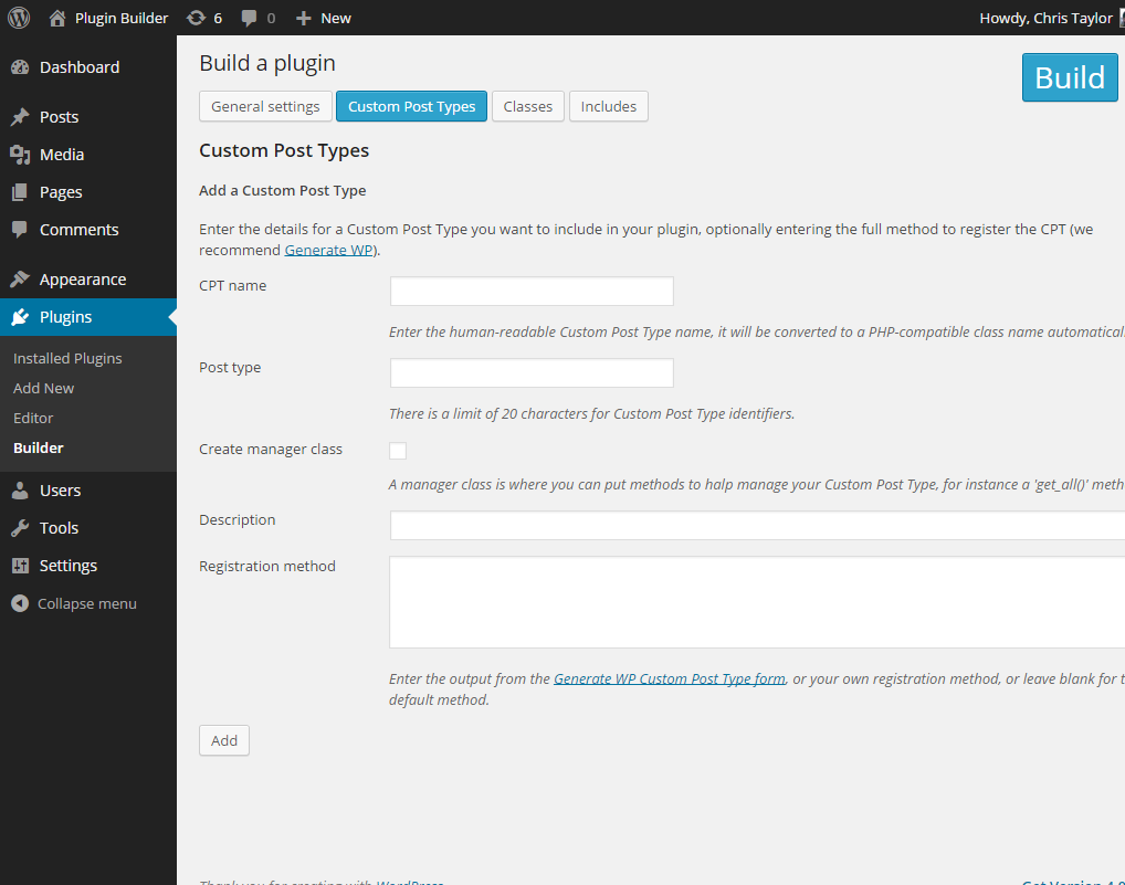 plugin-builder screenshot 3