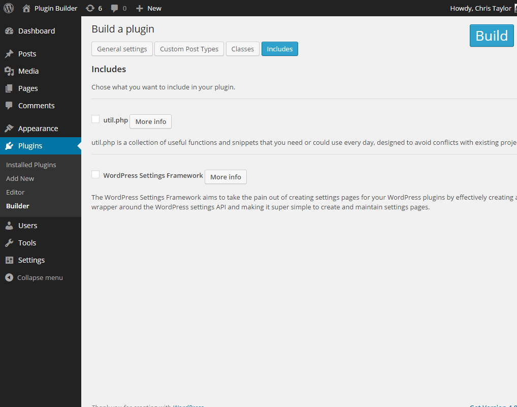plugin-builder screenshot 5