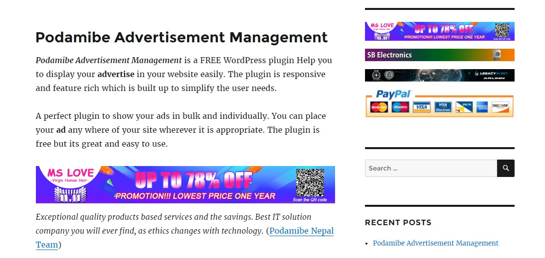 podamibe-advertisement-management screenshot 6
