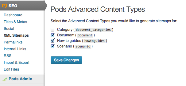 pods-seo screenshot 1