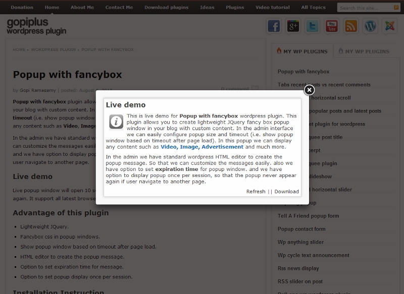 popup-with-fancybox screenshot 1