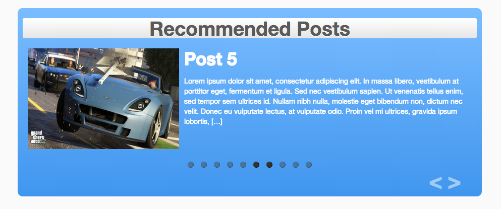 posts-slider screenshot 1