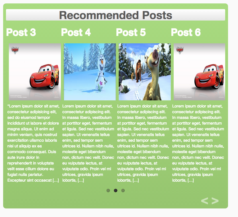posts-slider screenshot 2