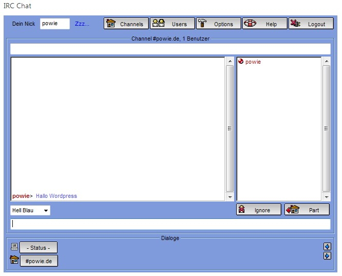 powies-irc-chat screenshot 1
