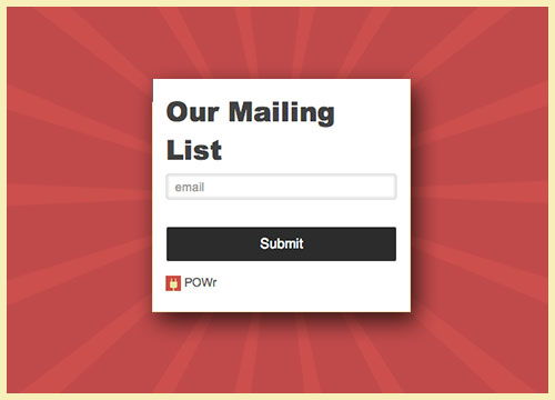 powr-mailing-list screenshot 1