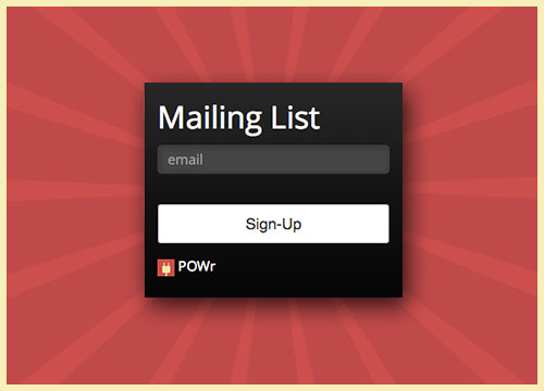 powr-mailing-list screenshot 2