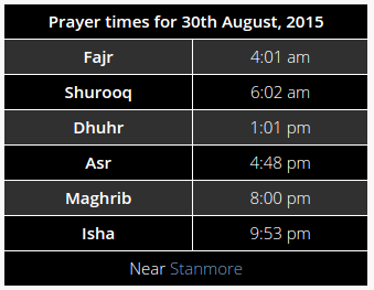 prayer-times-anywhere screenshot 2