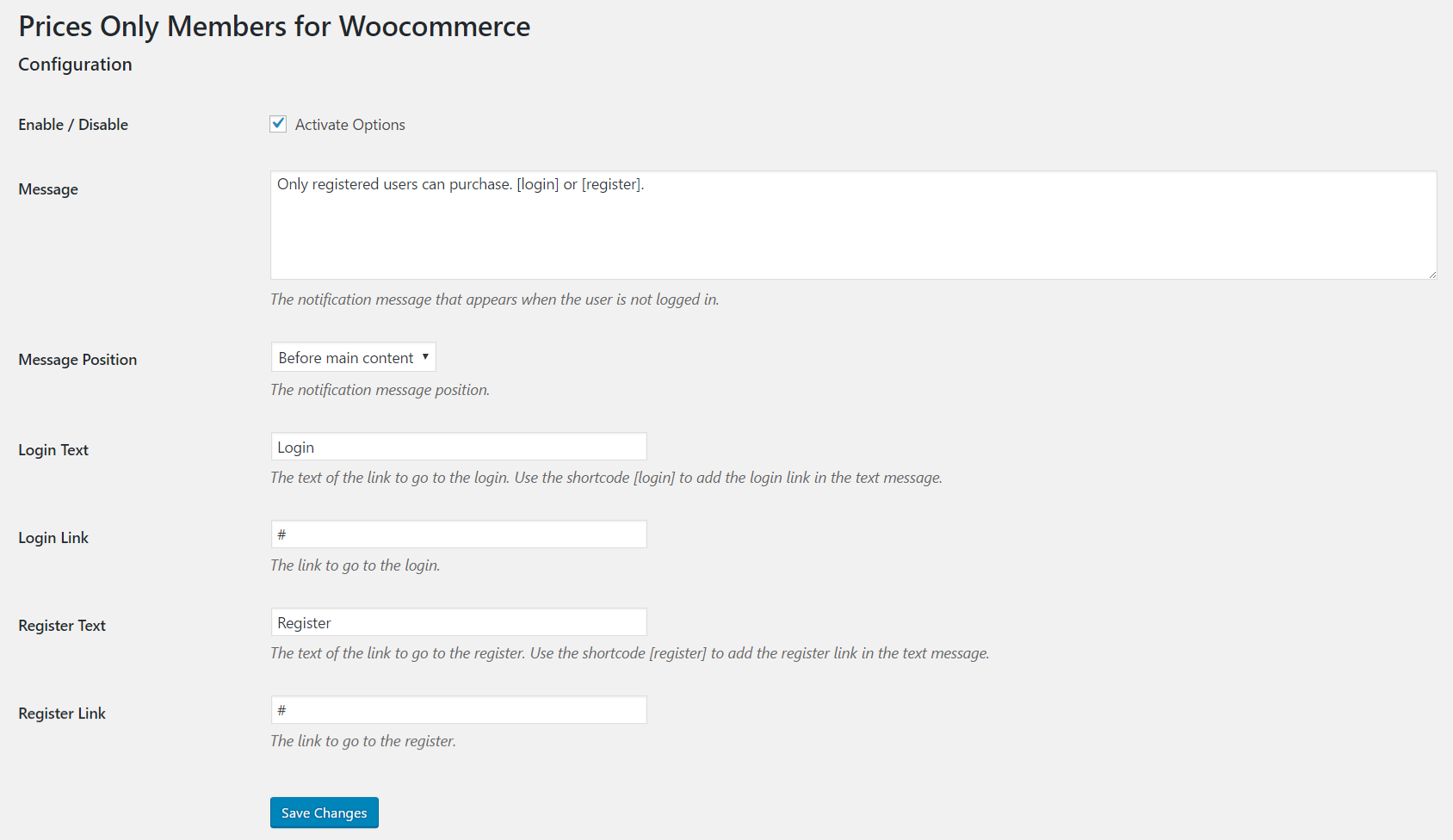 prices-only-members-for-woocommerce screenshot 1