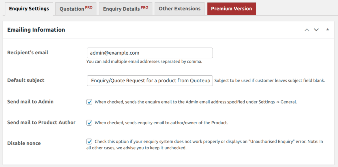 product-enquiry-for-woocommerce screenshot 1