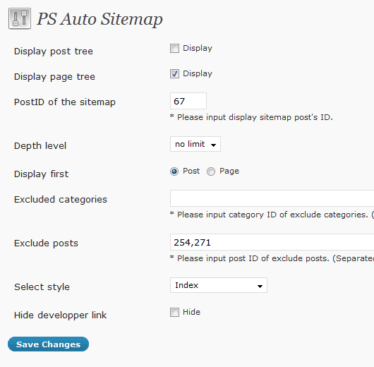 ps-auto-sitemap screenshot 1